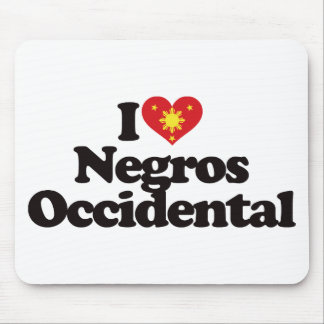 I Love Negros Occidental Mouse Pad