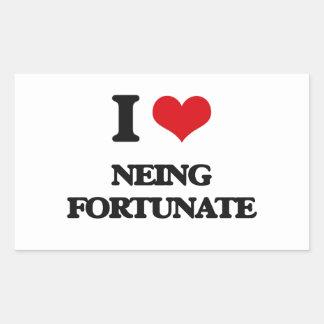 I Love Neing Fortunate Rectangular Sticker