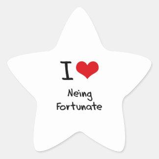 I Love Neing Fortunate Star Sticker
