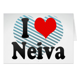 I Love Neiva, Colombia Greeting Cards