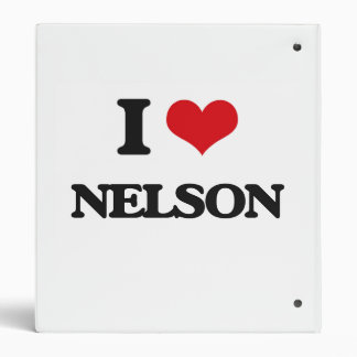I Love Nelson Vinyl Binder
