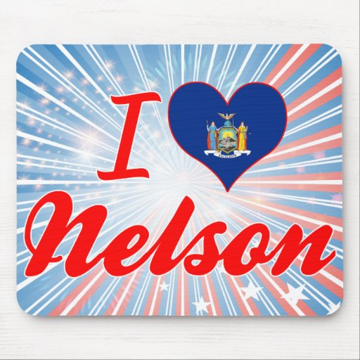 I Love Nelson, New York Mouse Pad