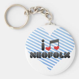 I Love Neofolk Key Chains