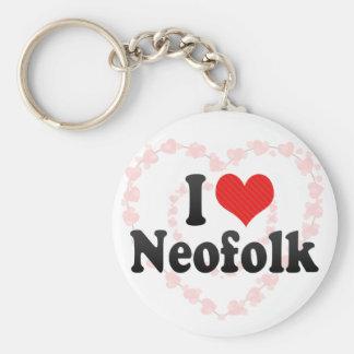 I Love Neofolk Key Chain