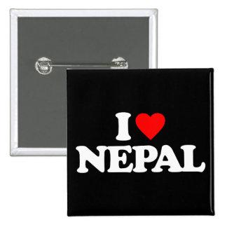 I LOVE NEPAL BUTTON