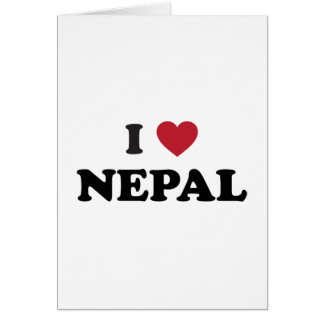 I Love Nepal Card