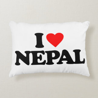 I LOVE NEPAL ACCENT PILLOW