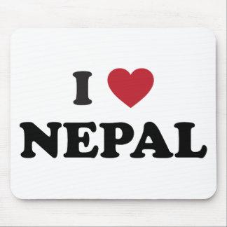 I Love Nepal Mouse Pad