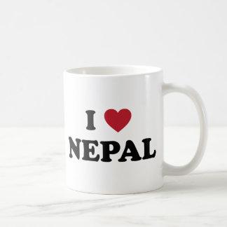 I Love Nepal Coffee Mugs