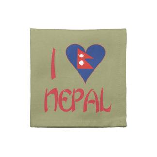 I Love Nepal Napkin