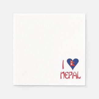 I Love Nepal Paper Napkin