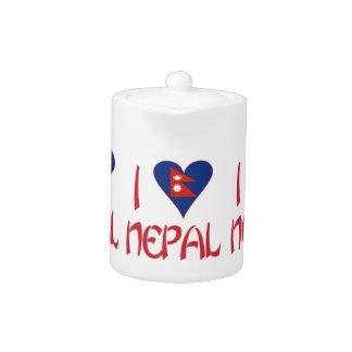 I Love Nepal Teapot