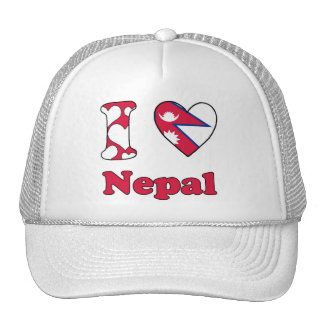 I love Nepal Trucker Hat