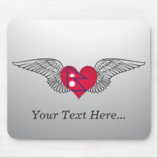 I Love Nepal -wings Mouse Pad