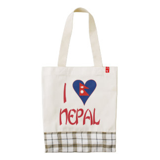 I Love Nepal Zazzle HEART Tote Bag