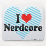 I Love Nerdcore Mouse Pads