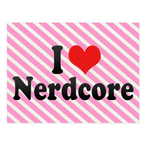 I Love Nerdcore Postcards