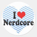 I Love Nerdcore Stickers