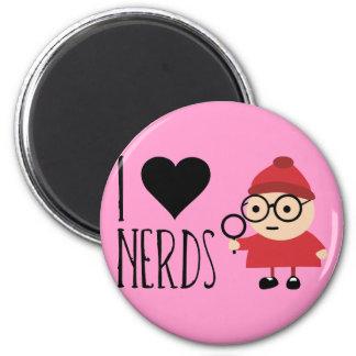 I Love Nerds 2 Inch Round Magnet