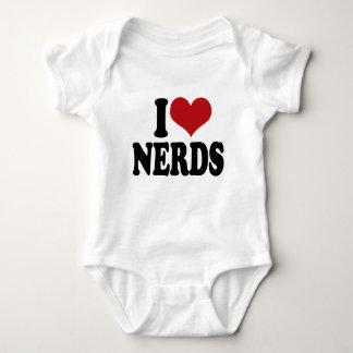 I Love nerds Baby Bodysuit