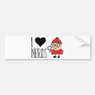 I Love Nerds Car Bumper Sticker