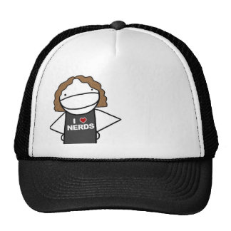i love nerds cap mesh hats