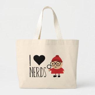 I Love Nerds Large Tote Bag