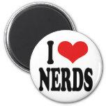 I Love Nerds Magnets