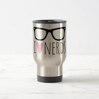I Love Nerds Travel Mug