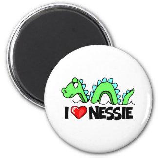 I Love Nessie 2 Inch Round Magnet