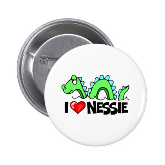 I Love Nessie 2 Inch Round Button