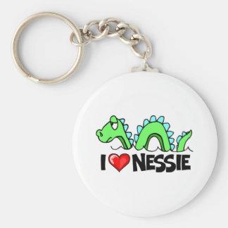I Love Nessie Keychain