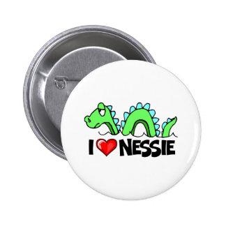 I Love Nessie Pinback Button