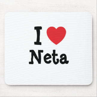 I love Neta heart T-Shirt Mouse Pads