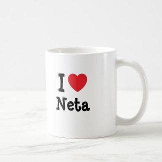 I love Neta heart T-Shirt Mugs