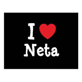 I love Neta heart T-Shirt Post Card