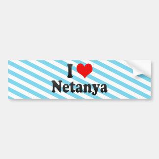 I Love Netanya, Israel Bumper Stickers