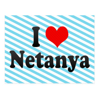 I Love Netanya, Israel Post Card