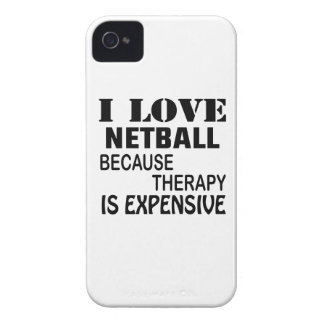 I Love Netball Because Therapy Is Expensive iPhone 4 Case-Mate Case
