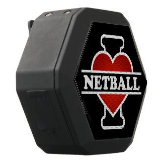 I Love Netball Black Bluetooth Speaker