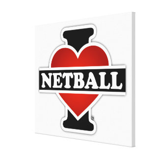 I Love Netball Canvas Print