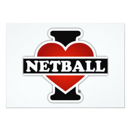I Love Netball Card
