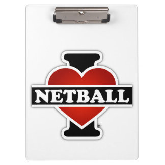 I Love Netball Clipboard