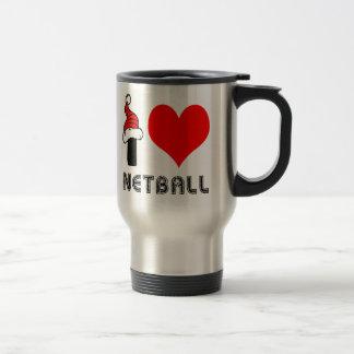 I Love Netball Design Coffee Mugs