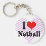 I love Netball Key Chain
