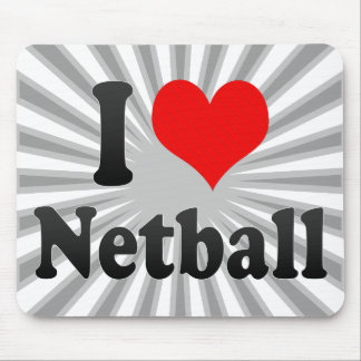 I love Netball Mouse Pad