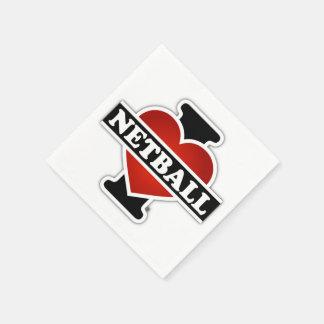 I Love Netball Napkin