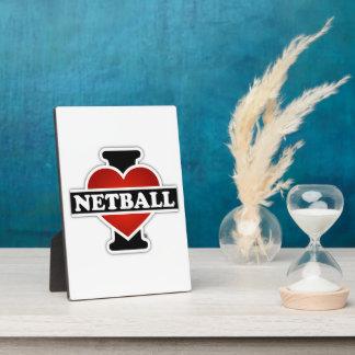 I Love Netball Photo Plaque