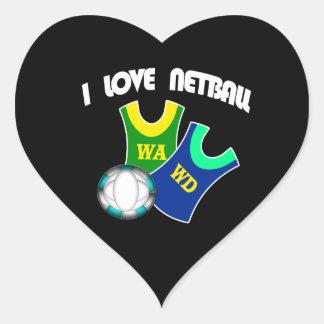 I Love Netball Sticker