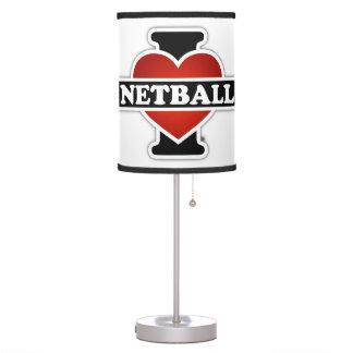 I Love Netball Table Lamp